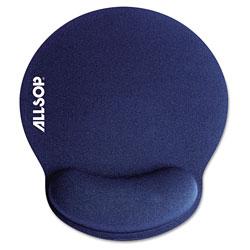 Allsop MousePad Pro Memory Foam Mouse Pad with Wrist Rest, 9 x 10 x 1, Blue