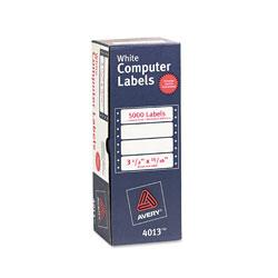 Avery Dot Matrix Printer Mailing Labels, Pin-Fed Printers, 0.94 x 3.5, White, 5,000/Box