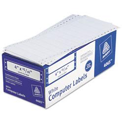 Avery Dot Matrix Printer Mailing Labels, Pin-Fed Printers, 0.94 x 4, White, 5,000/Box