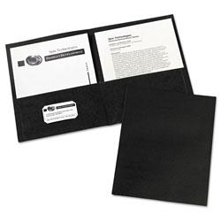 Avery Two-Pocket Folder, 40-Sheet Capacity, Black, 25/Box