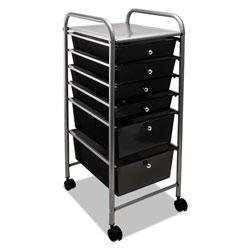Advantus Portable Drawer Organizer, 13w x 15.38d x 32.13h, Smoke/Matte Gray