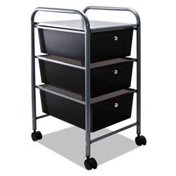 Advantus Portable Drawer Organizer, 13w x 15.38d x 25.88h, Smoke/Matte Gray