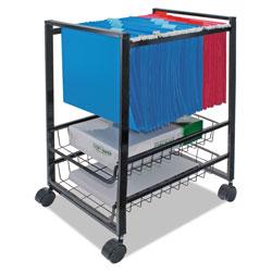 Advantus Mobile File Cart w/Sliding Baskets, 12.88w x 15d x 21.13h, Black