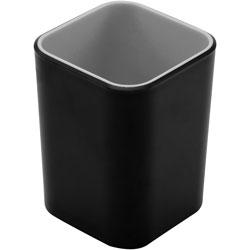 Advantus Pencil Cup, Fusion, 2-3/4 inx2-3/4 inx4 in, Black/Gray