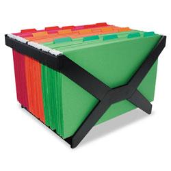Advantus Letter/Legal Hanging File Rack, Plastic, 16 x 12 x 10 3/4, Black