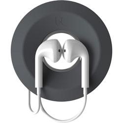 Advantus Earbud Cord Spool, Magnetic, 2-3/4 inWx2-3/4 inLx7/10 inH, DGY