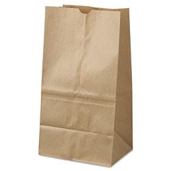GEN Grocery Paper Bags, 40 lbs Capacity, #25 Squat, 8.25 inw x 6.13 ind x 15.88 inh, Kraft, 500 Bags