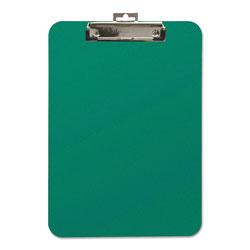 Baumgarten's Unbreakable Recycled Clipboard, 1/4 in Capacity, 9 x 12 1/2, Green