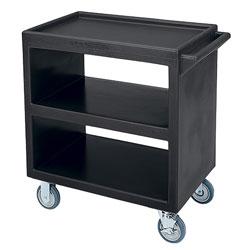 Cambro Bus Cart 230 5 in 2 Fixed 2 Swivel 1 Brake Black