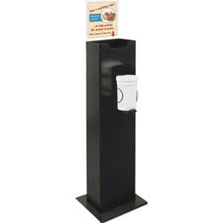 Buddy 0675-4 Sanitizing Dispenser, Steel/Black