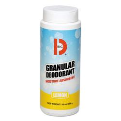 Big D Granular Deodorant, Lemon, 16 oz, Shaker Can, 12/Carton
