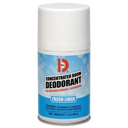Big D Metered Concentrated Room Deodorant, Fresh Linen Scent, 7 oz Aerosol, 12/Box