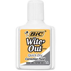 Bic White Correction Fluid, Quick Dry , 20ml