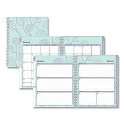 Blue Sky Rue Du Flore Weekly/Monthly Wirebound Planner, 11 x 8.5, Green/Lavender, 2021