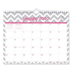 Blue Sky Dabney Lee Ollie Wirebound Wall Calendar, Gray/Pink, 11 x 8.75, 2021