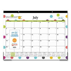 Blue Sky Teacher Dots Academic Year Desk Pad 22 X 17