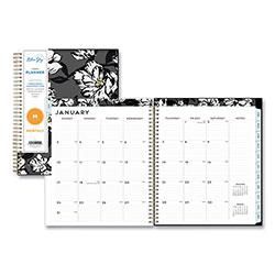 Blue Sky Baccara Dark CYO Monthly Planner, 10 x 8, 2021