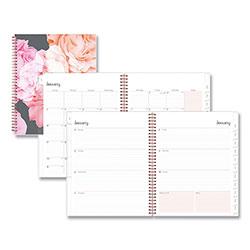 Blue Sky Joselyn Weekly/Monthly Wirebound Planner, 11 x 8.5, Light Pink/Peach/Black, 2021