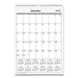 Blue Sky Classic Red Wall Calendar, 12 x 17, 2021