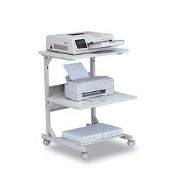 Balt Dual Laser Printer Stand, 24w x 24d x 33h, Gray