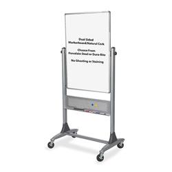 "Balt Mobile Reversible Board, 30""x40"", Melamine/Cork, Platinum"