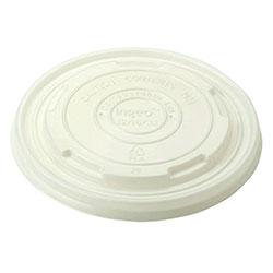 World Centric 12, 16, 32 oz Paper Bowl Lids, CPLA, Compostable