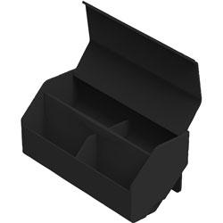 Stanley Bostitch Storage Bin, 3-1/2 inWx7-9/10 inLx3-1/2 inH, Black