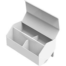Stanley Bostitch Storage Bin, 3-1/2 inWx7-9/10 inLx3-1/2 inH, White