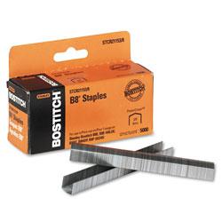 Stanley Bostitch B8 PowerCrown Premium Staples, 0.38 in Leg, 0.5 in Crown, Steel, 5,000/Box