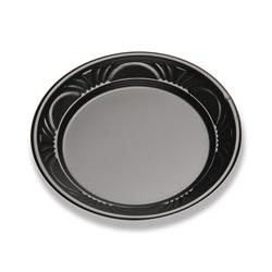 D&W Finepack 6 in Plastic Plate, Black Pearl