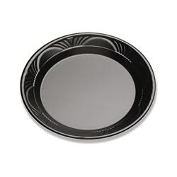 D&W Finepack 9 in Plastic Plate, Black Pearl