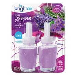 Bright Air Electric Scented Oil Air Freshener Refill, Sweet Lavender/Violet, 0.67 oz Jar, 2/Pack , 6 Packs/Carton