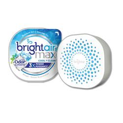 Bright Air Max Odor Eliminator Air Freshener, Cool and Clean, 8 oz, 6/Carton