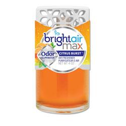 Bright Air Max Scented Oil Air Freshener, Citrus Burst, 4 oz, 6/Carton