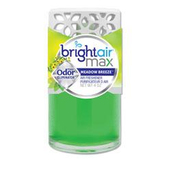 Bright Air Max Scented Oil Air Freshener, Meadow Breeze, 4 oz, 6/Carton