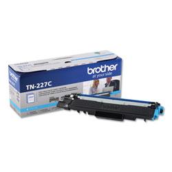 Brother TN227C High-Yield Toner, 2300 Page-Yield, Cyan