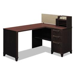 Bush Enterprise Collection Corner Desk, 60w x 47.25d x 41.75h, Mocha Cherry (Box 1 of 2)