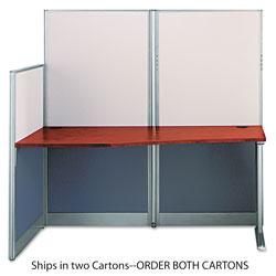 Bush Straight Workstation (Box 2 of 2) Office-in-an-Hour, 64.5w x 32.25d x 63h, Hansen Cherry