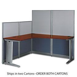 Bush L-Workstation (Box 1 of 2) Office-in-an-Hour, Hansen Cherry