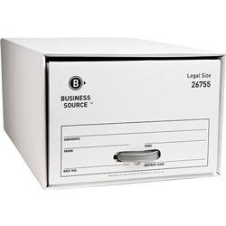"Business Source Storage Drawer, Legal, 15-1/2"" x 23-1/4"" x 10-1/4"", White"