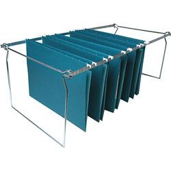 Business Source Hanging File Folder Frames, Legal, 6/BX, Stainless Steel