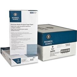 Business Source White Multipurpose Paper, 8 1/2 x 14, 92 Bright, 20 lb, 500 Sheets Per Ream, Case of 10 Reams