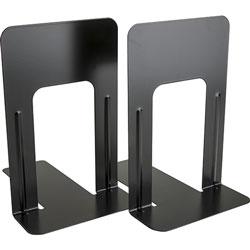Business Source Bookends, Jumbo, Steel, 6 in x 8-1/2 in x 9 in, 12/PR, Black