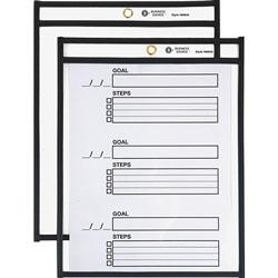 Business Source Shop Ticket Holder, Letter, 8-1/2'' x 11 in, 5/BX, Black
