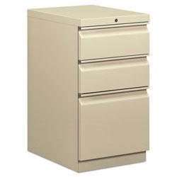 Hon Mobile Box/Box/File Pedestal, 15w x 20d x 28h, Putty