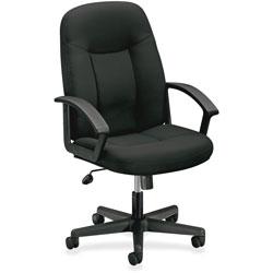Basyx by Hon VL601 Mid-Back Swivel/Tilt Chair, Metal, 26w x 33-1/2d x 43h, Black Fabric