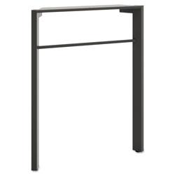 Basyx by Hon Manage Series Desk Leg, Steel, 2.25w x 23.5d x 28.5h, Ash