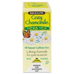 Bigelow Tea Company Single Flavor Tea, Cozy Chamomile, 28 Bags/Box