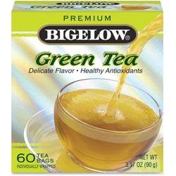 Bigelow Tea Company Premium Green Tea, 60/BX, 3.17oz, Multi