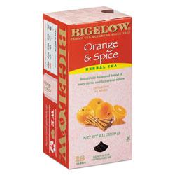 Bigelow Tea Company Orange and Spice Herbal Tea, 28/Box